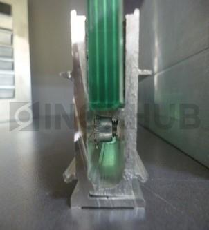 Набор зажимной профиль 44 база L=3000мм без крышек стекло 8.0-12.0 мм