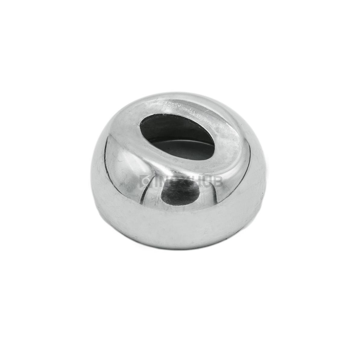 Соединение поручня со стойкой штамп. под 90°, Ø38.1 мм, AISI 304, GRIT 600