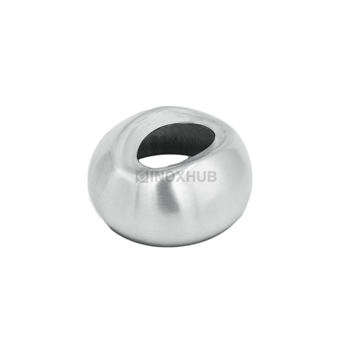 Соединение поручня со стойкой штамп. под 90°  Ø50.8 мм AISI 304 GRIT 320