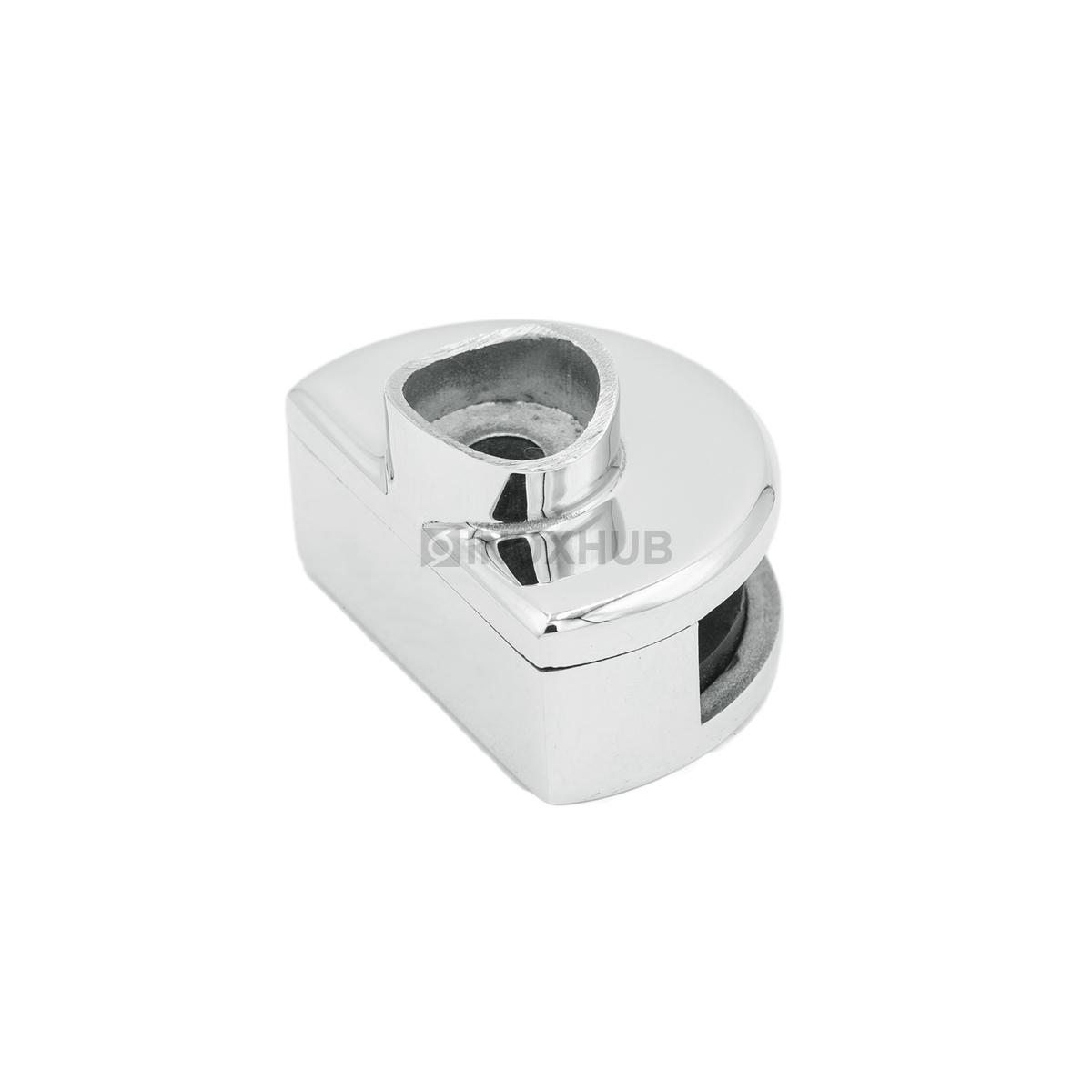 Стеклодержатель одинарный зажимной Ø38.1х60.0 мм, стекло 8.0 мм, AISI 304, GRIT 600