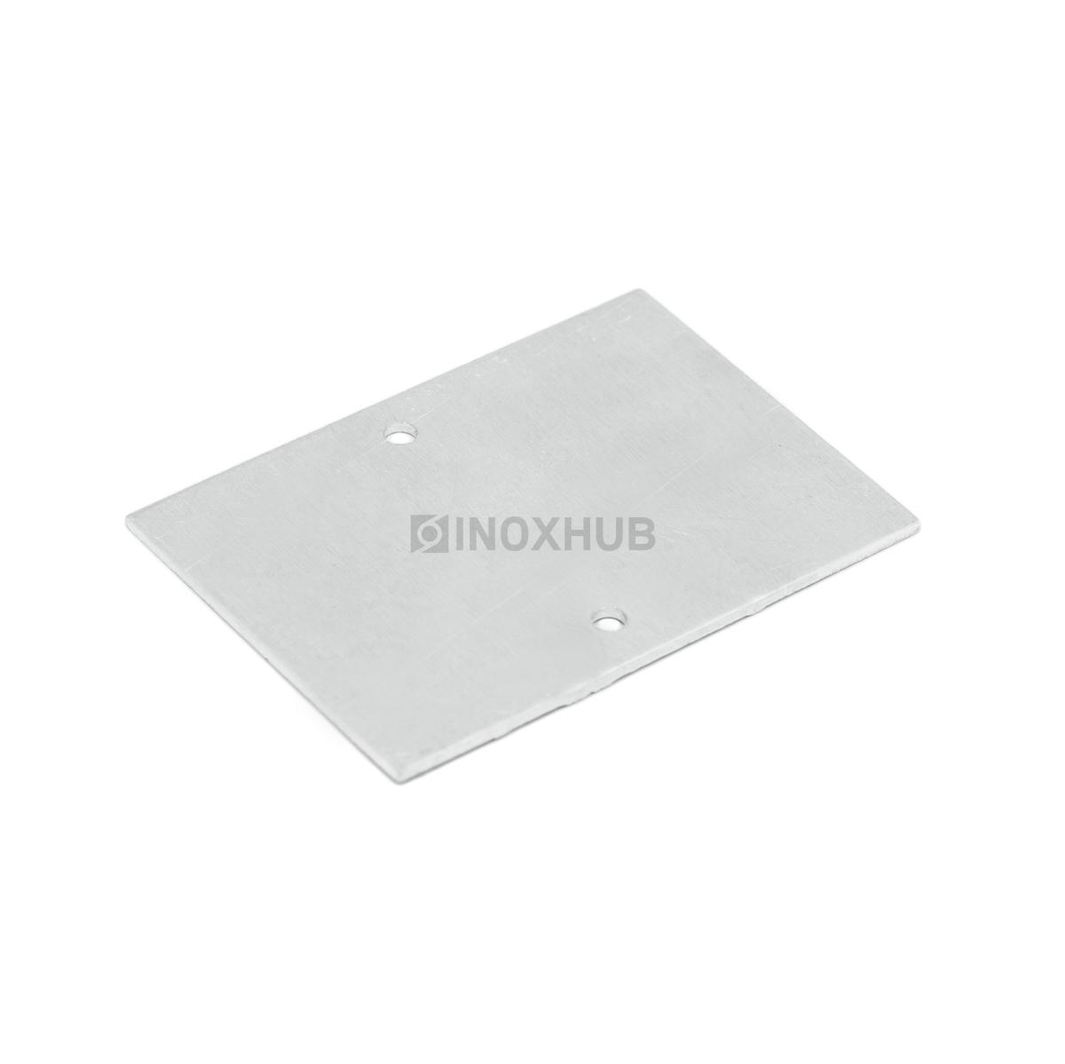 Торцевая заглушка профиля 80 алюминиевая не анодированная