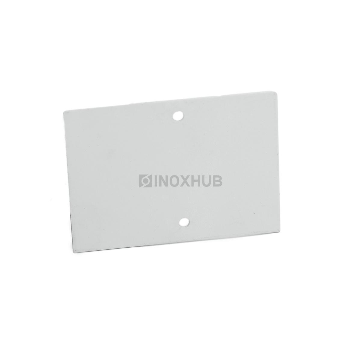 Торцевая заглушка Т80 алюминиевая RAL 9006 бело алюминиевый металлик матовый