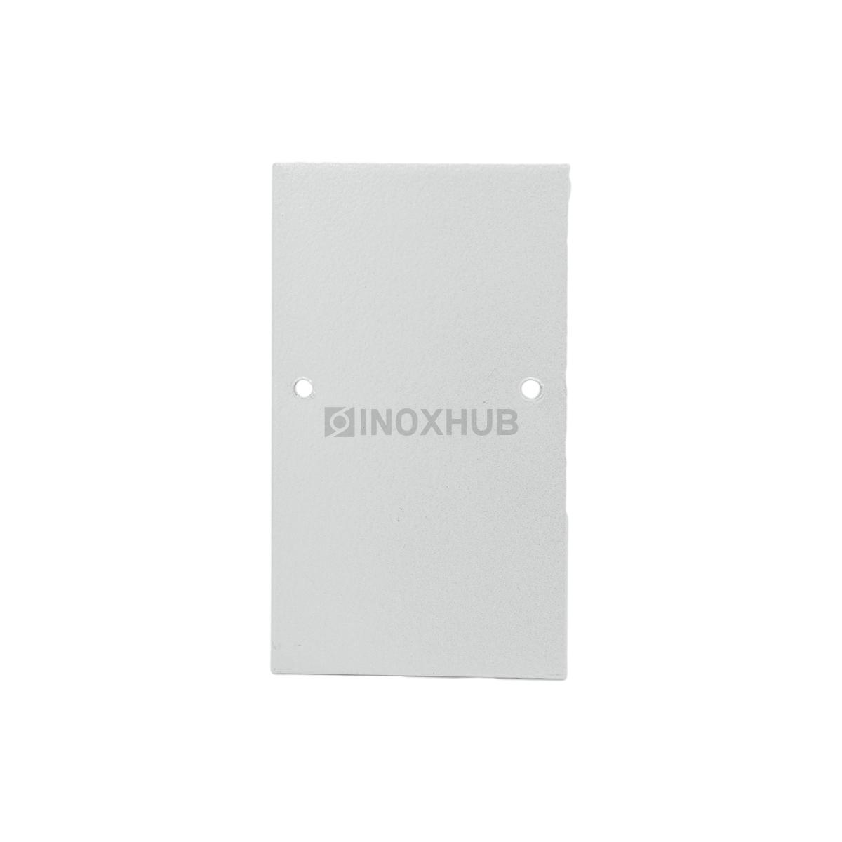 Торцевая заглушка Т106 алюминиевая RAL 9006 бело алюминиевый металлик матовый