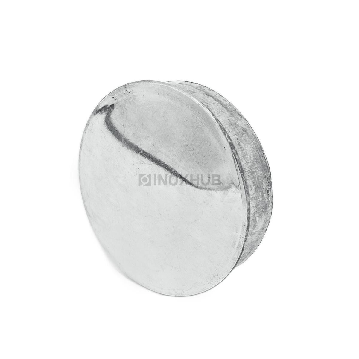 Заглушка забивная штамп., Ø38.1 мм, AISI 304, GRIT 600