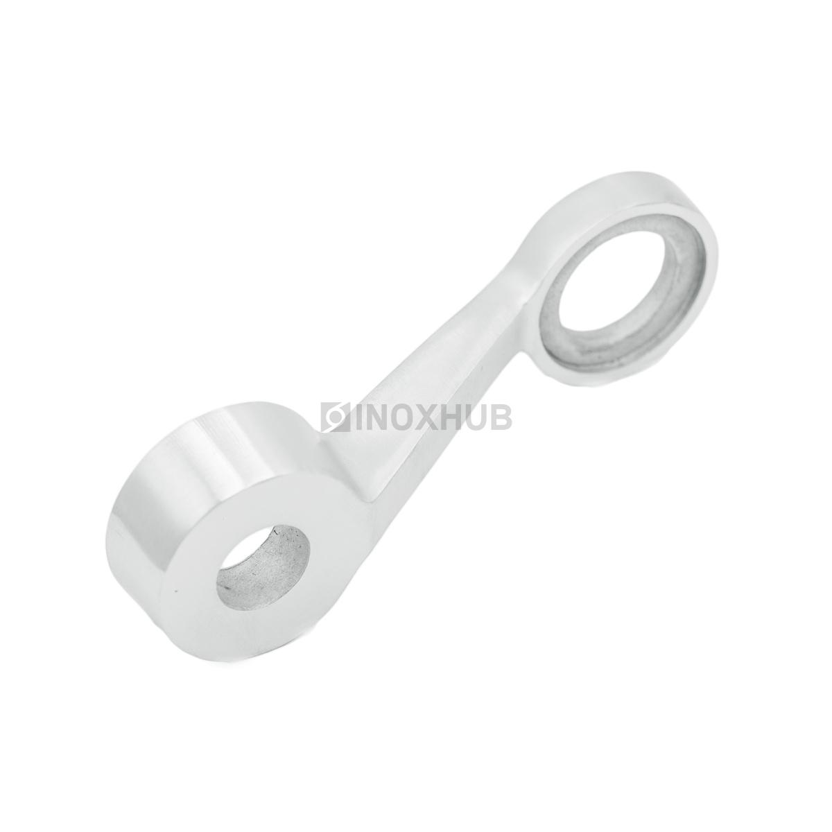 Одинарный спайдер для вертикального остекления AISI 316 шлиф 320 Grit