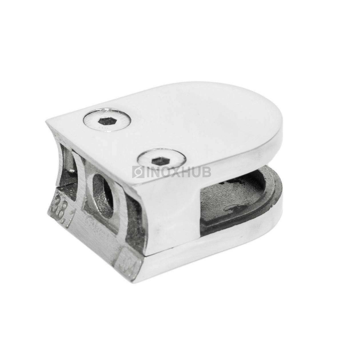 Стеклодержатель литой Ø38.1мм стекло 8.0 мм AISI 304 GRIT 600