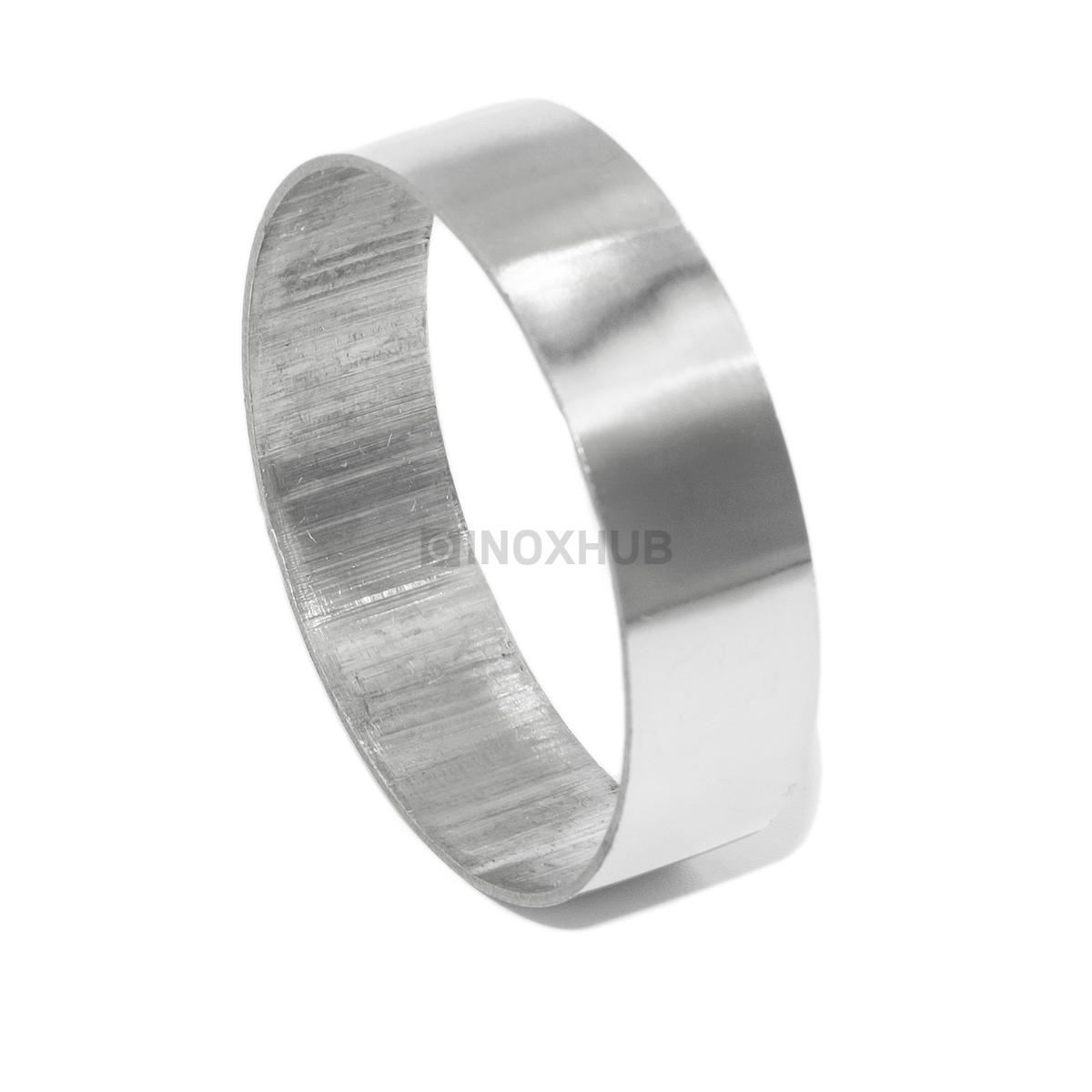 Соединительное кольцо Ø50.8 мм, AISI 304, GRIT 600