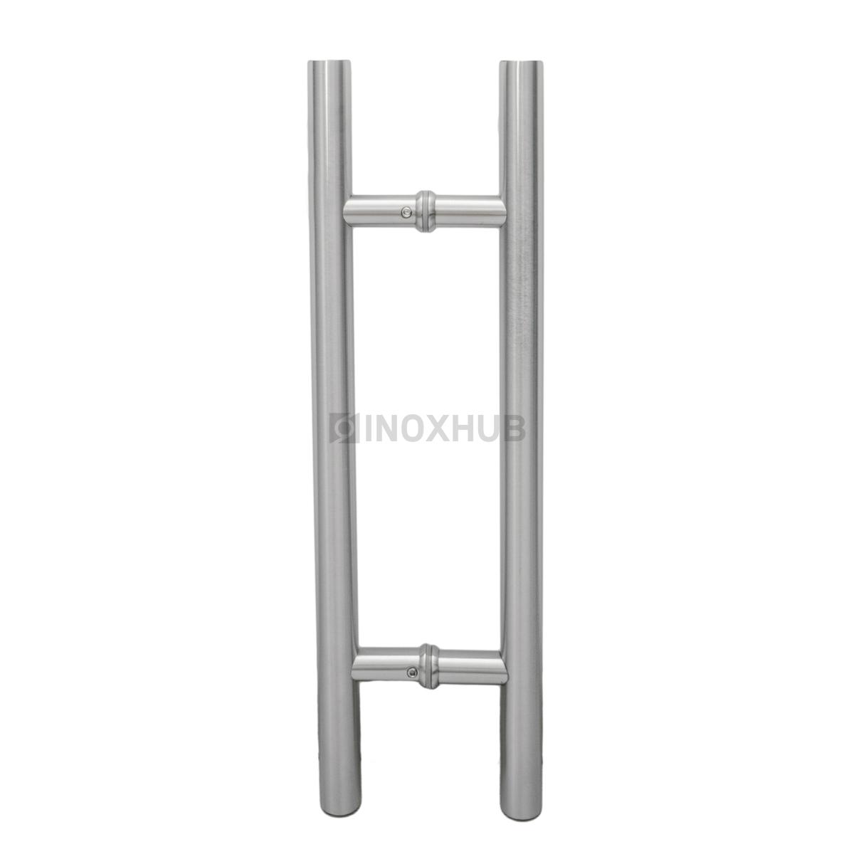Ручка (633-450 SSS) 25×275×450 мм, стекло 8-12 мм, нерж. сталь матовая