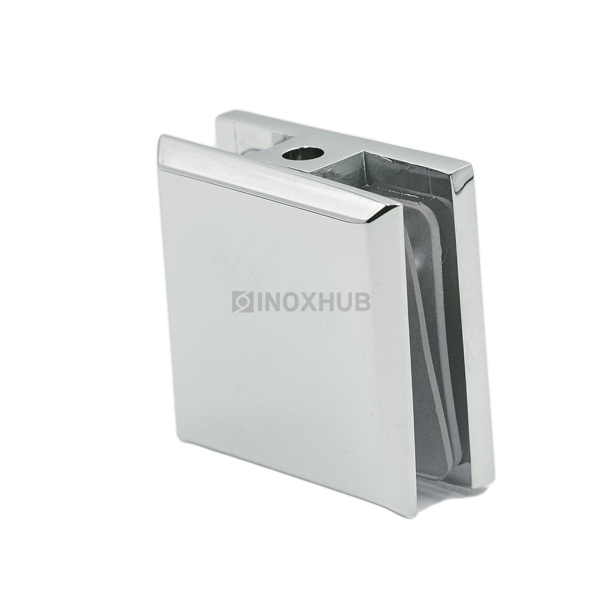 Коннектор (721 PC) стекло-стена, 1 отверстие, хром полированный