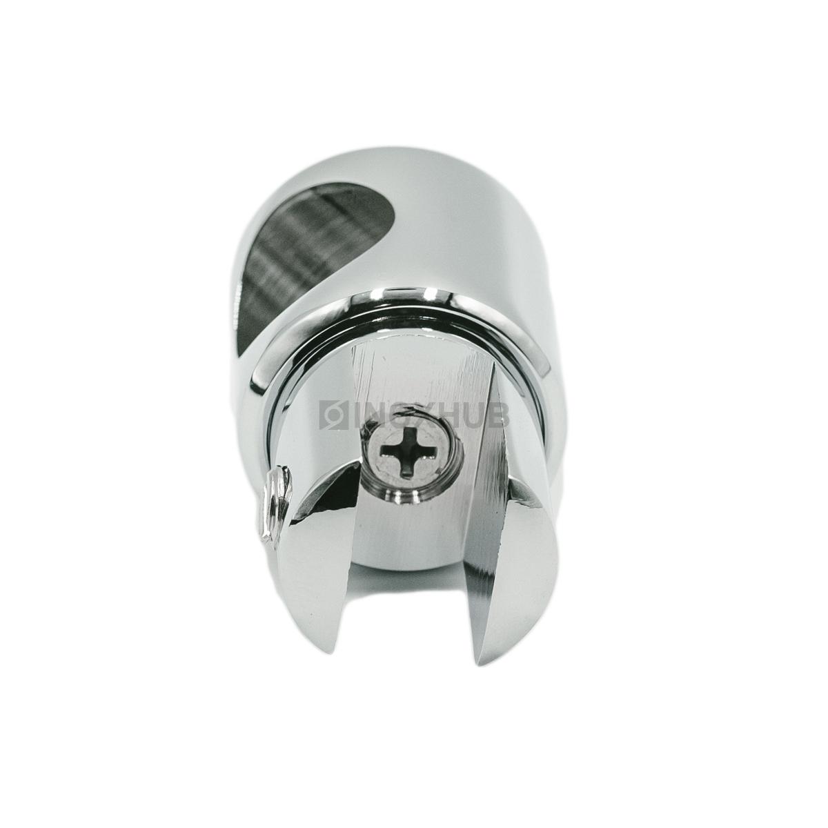 Держатель стекла (914 PSS) сквозной, штанга Ø19 мм, нерж. сталь полированная