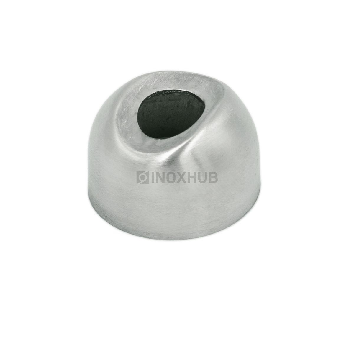 Соединение поручня со стойкой штамп. под 90°  Ø25.4 мм AISI 304 GRIT 320