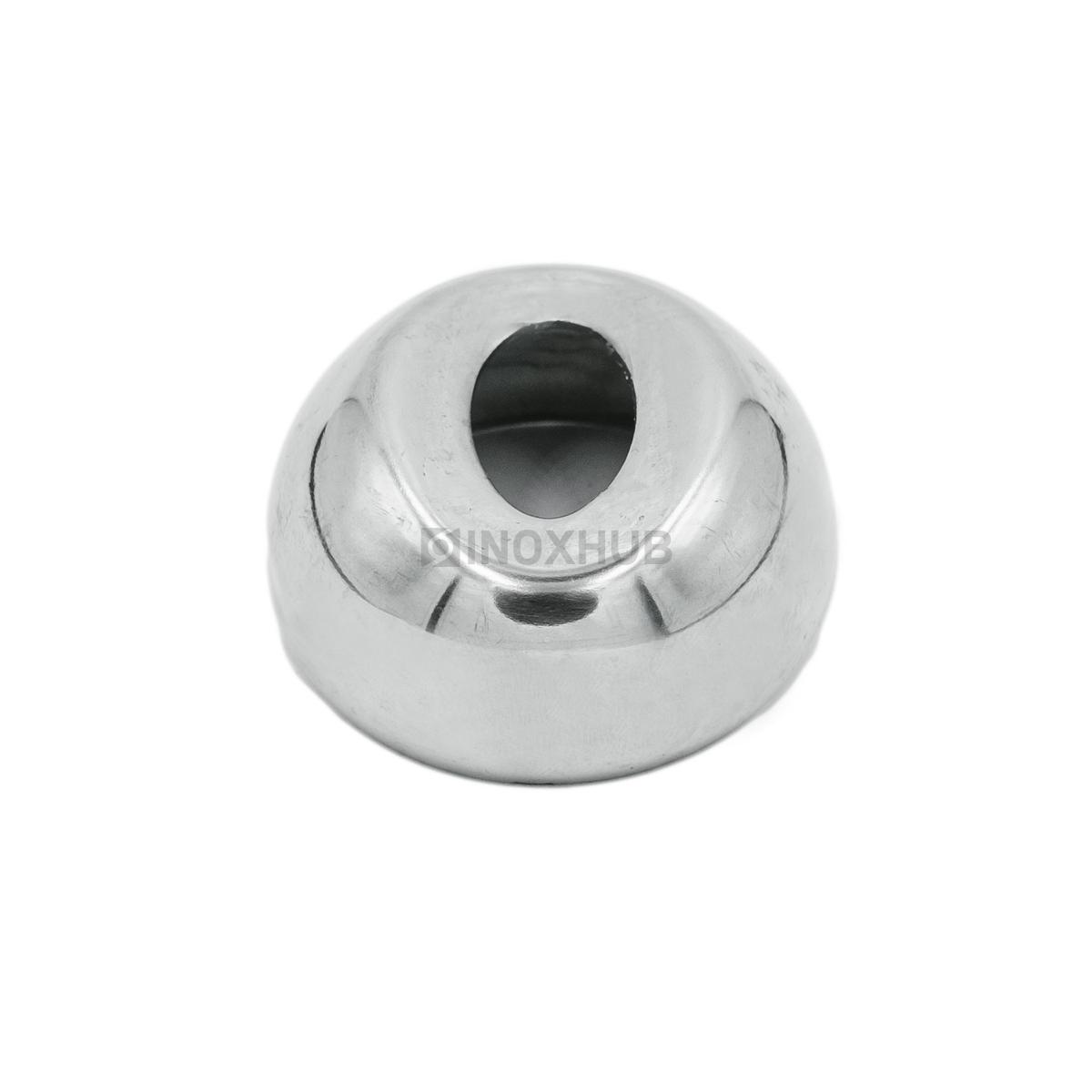 Соединение поручня со стойкой штамп. под 90° Ø50.8 мм AISI 304 GRIT 600