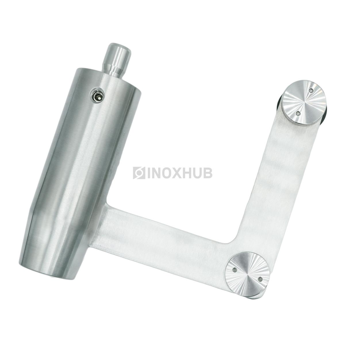 Фитинг угловой (740 SSS) с осью под зенковку, нерж. сталь шлиф