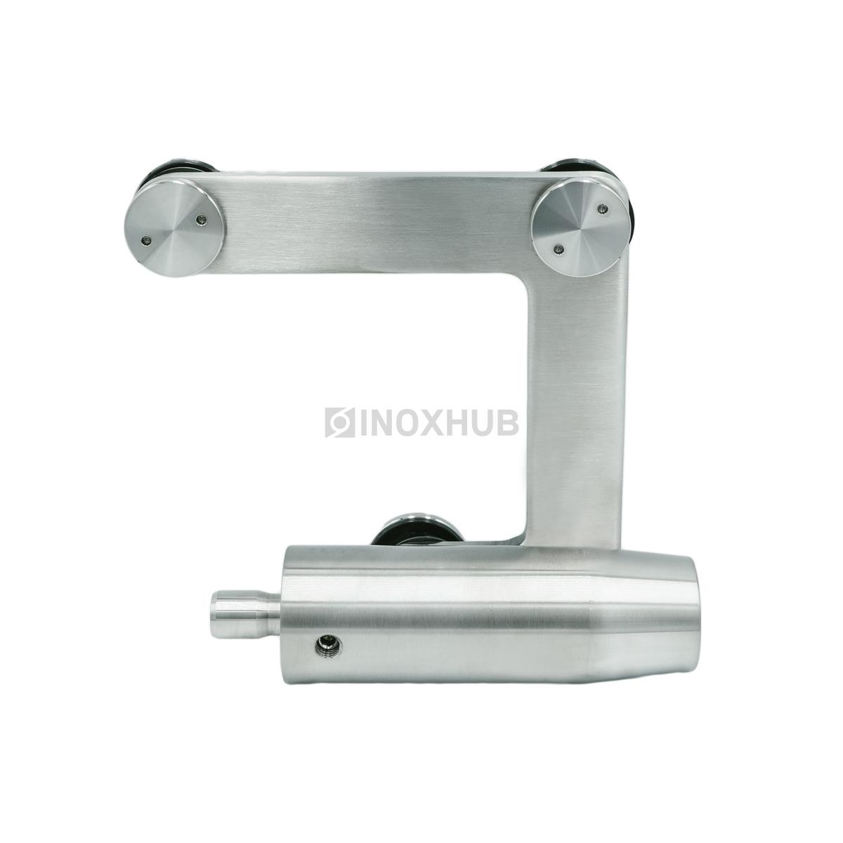 Фитинг угловой (740a SSS) с осью без зенковки, нерж. сталь шлиф