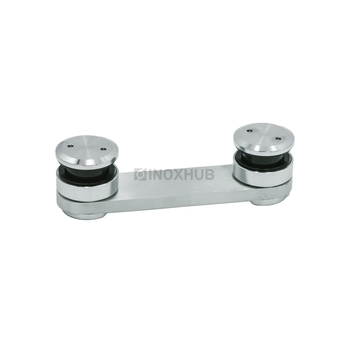 Коннектор (820а SSS) стекло-стекло без зенковки, нерж. сталь шлиф