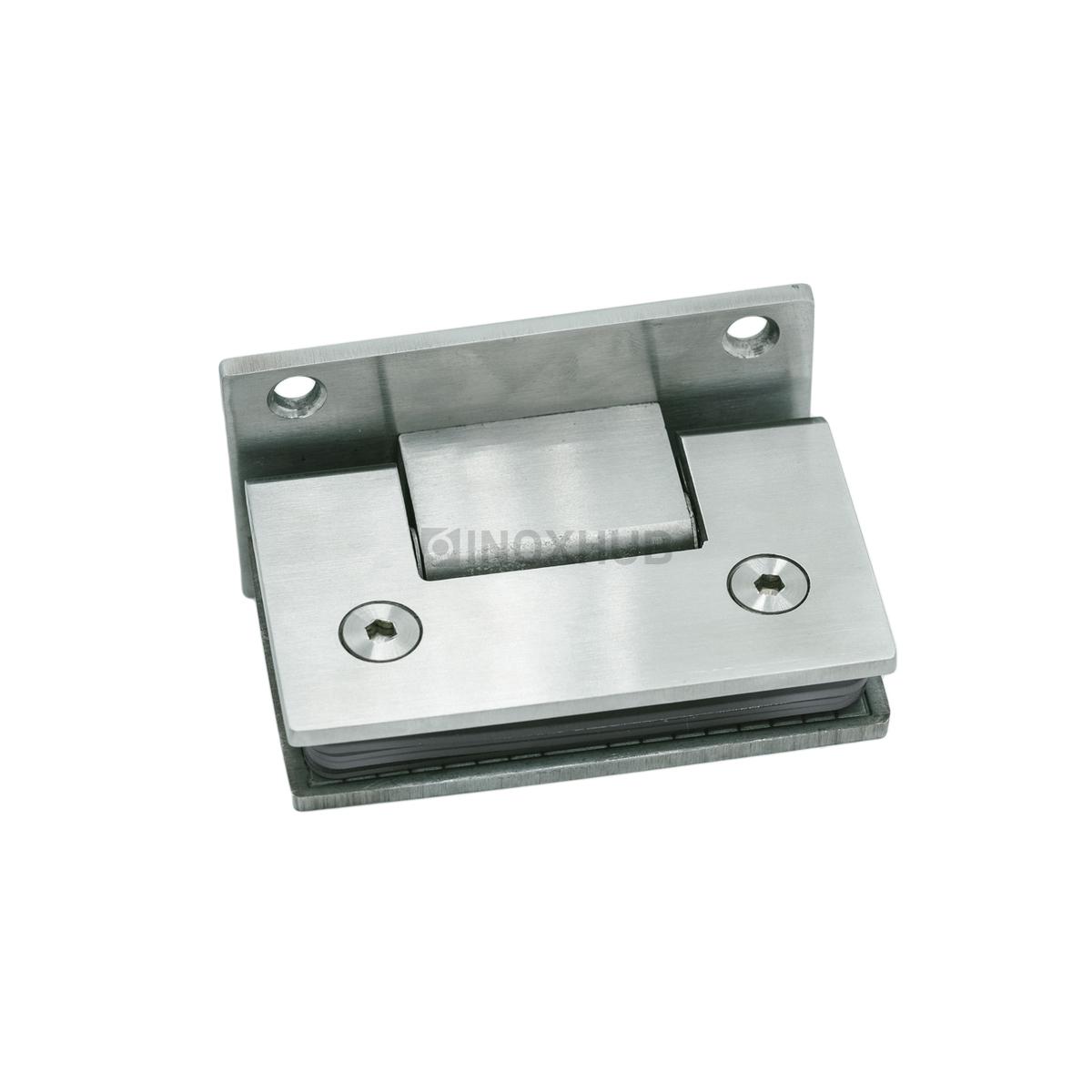 Петля (301 SSS) стена-стекло (без фаски) двустороннее крепление, нерж. сталь матовая