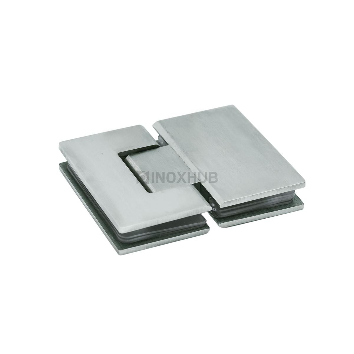 Петля (303 SSS) стекло-стекло 180° (без фаски)  нерж. сталь матовая