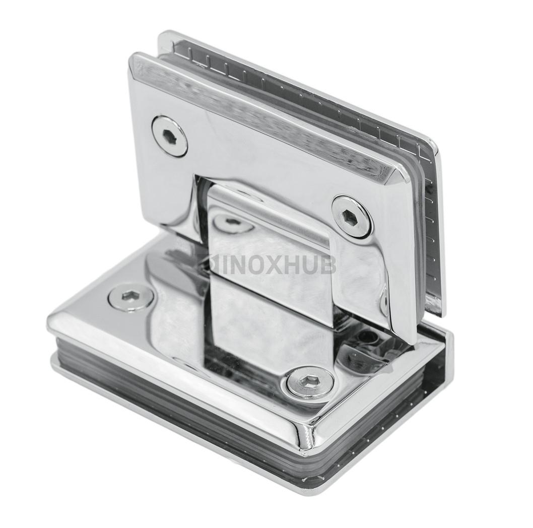 Петля (304 PC) стекло-стекло 90°  хром полированный
