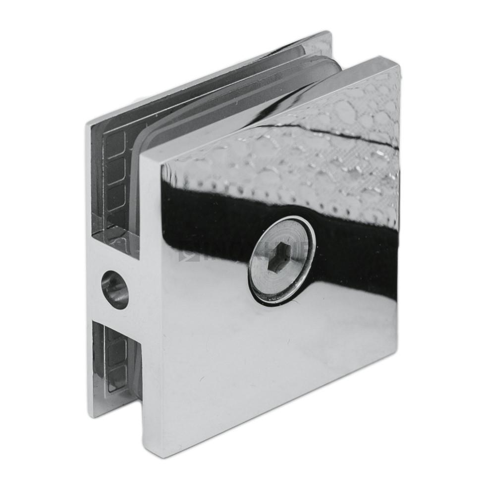 Коннектор (721 PC) стекло-стена 1 отверстие хром полированный