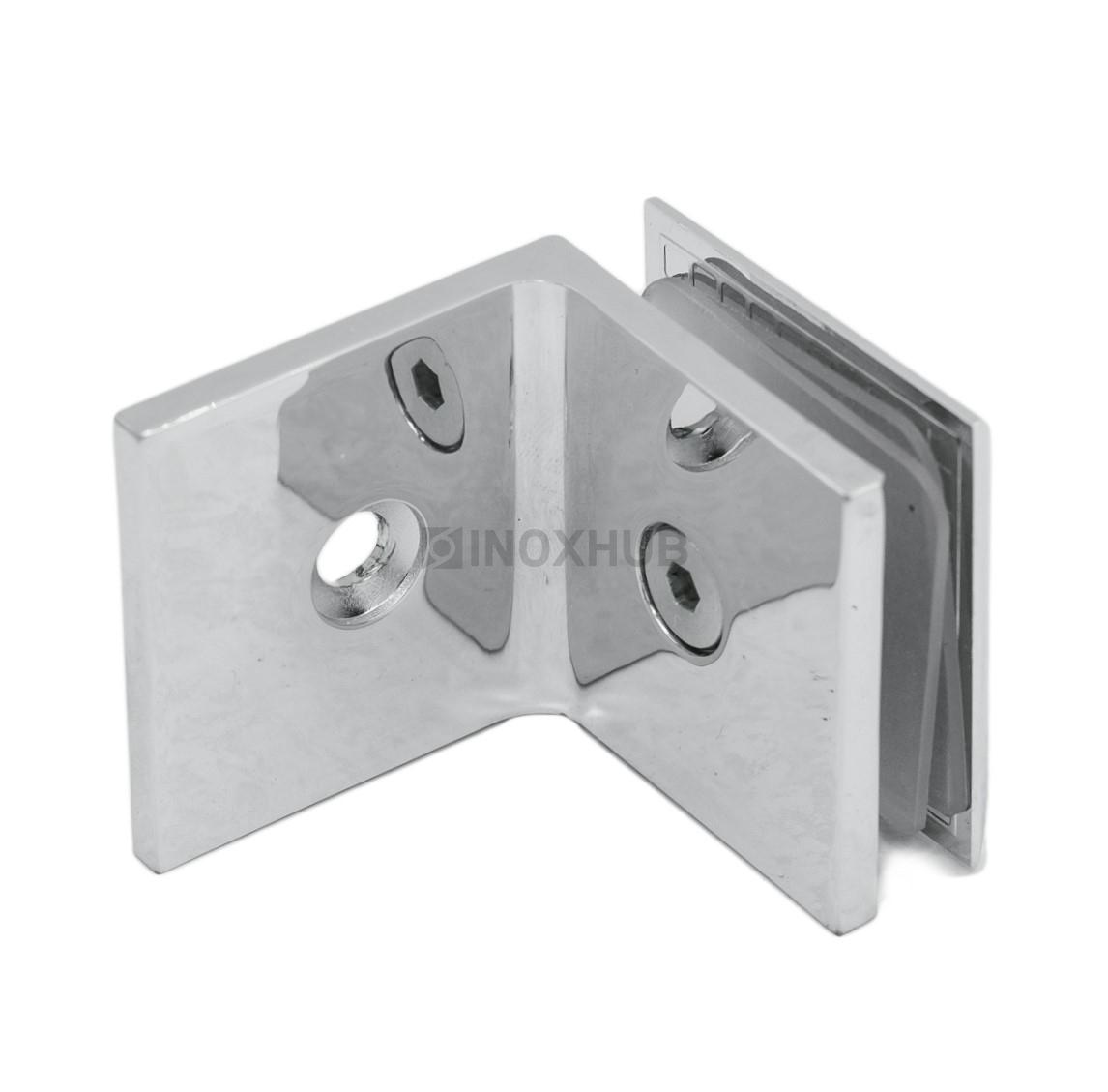 Коннектор L-обр. (722 PС ) стекло-стена  хром полированный