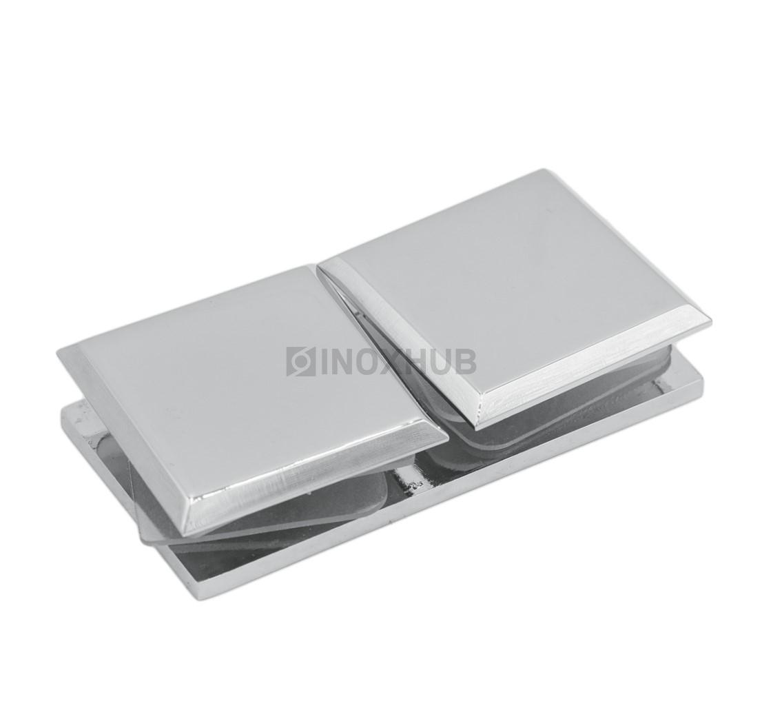 Коннектор (724 PC) стекло-стекло 180° хром полированный