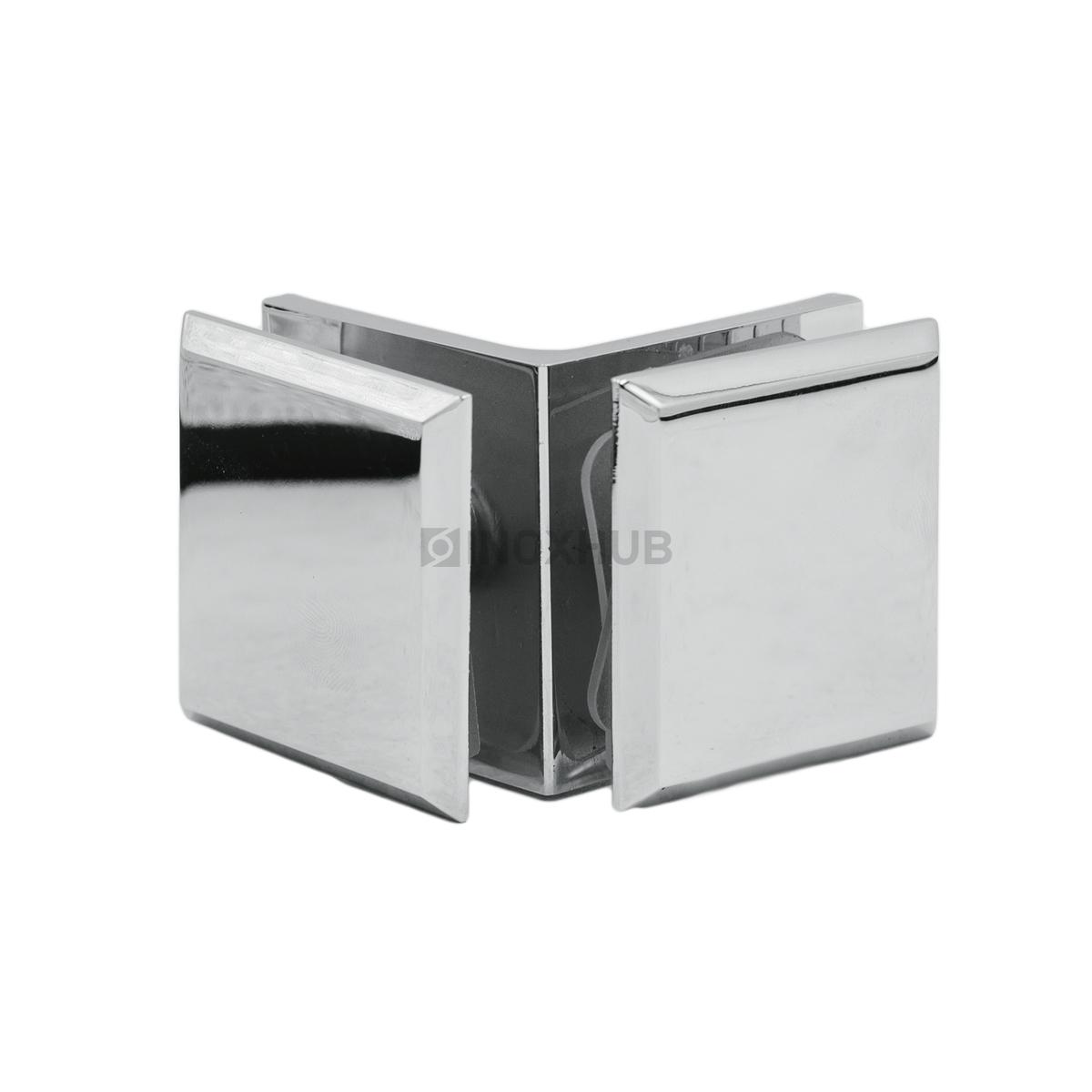Коннектор (725 PC) стекло-стекло 90°  хром полированный
