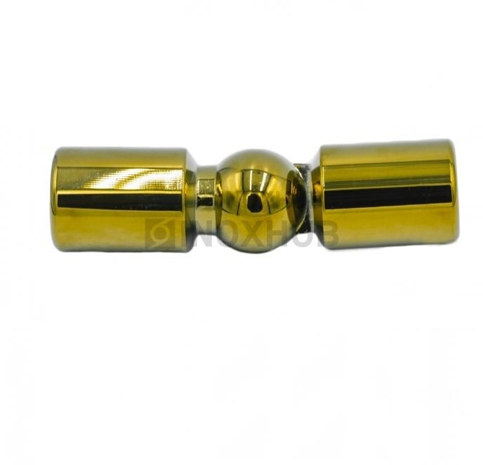 Соединитель штанги (915 Gold) произвольный угол штанга Ø19 мм под Золото