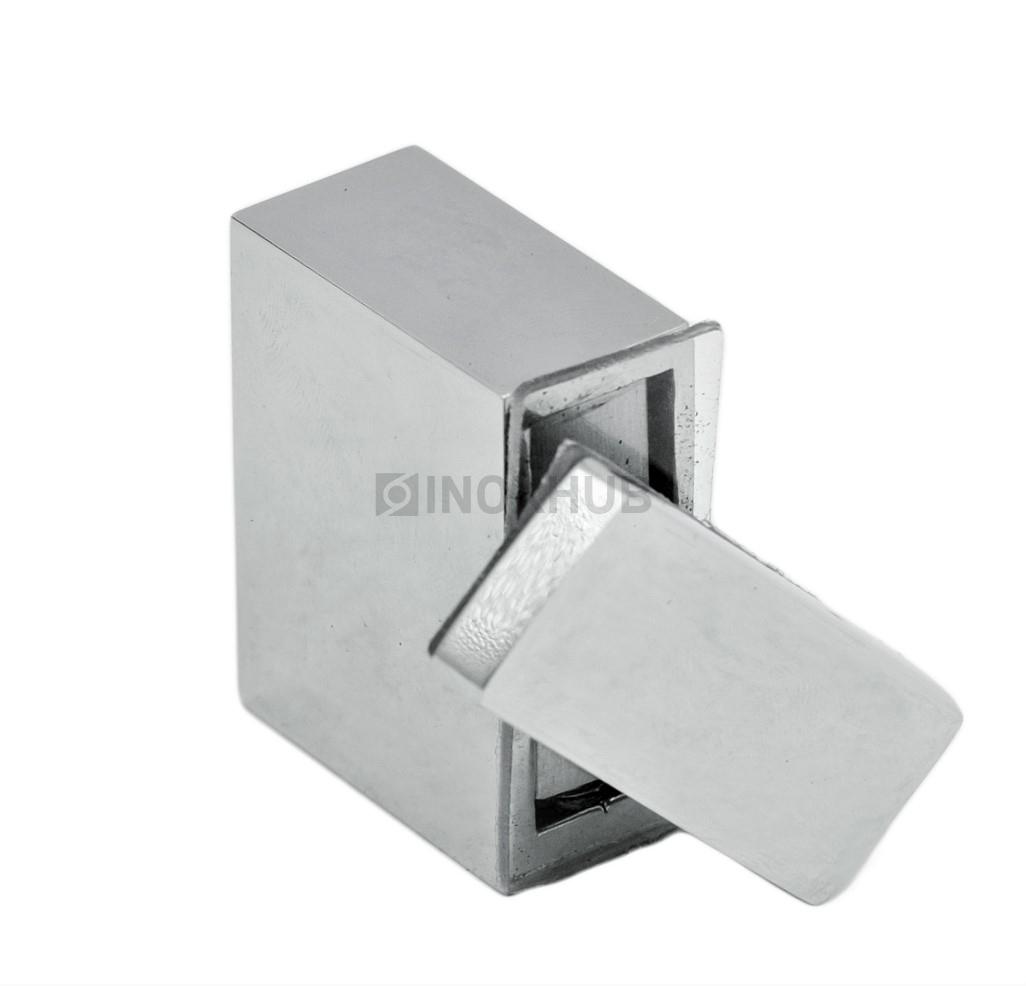 Держатель стекла (342 PSS) через отверстие  штанга 30х10 мм нерж. сталь полированная