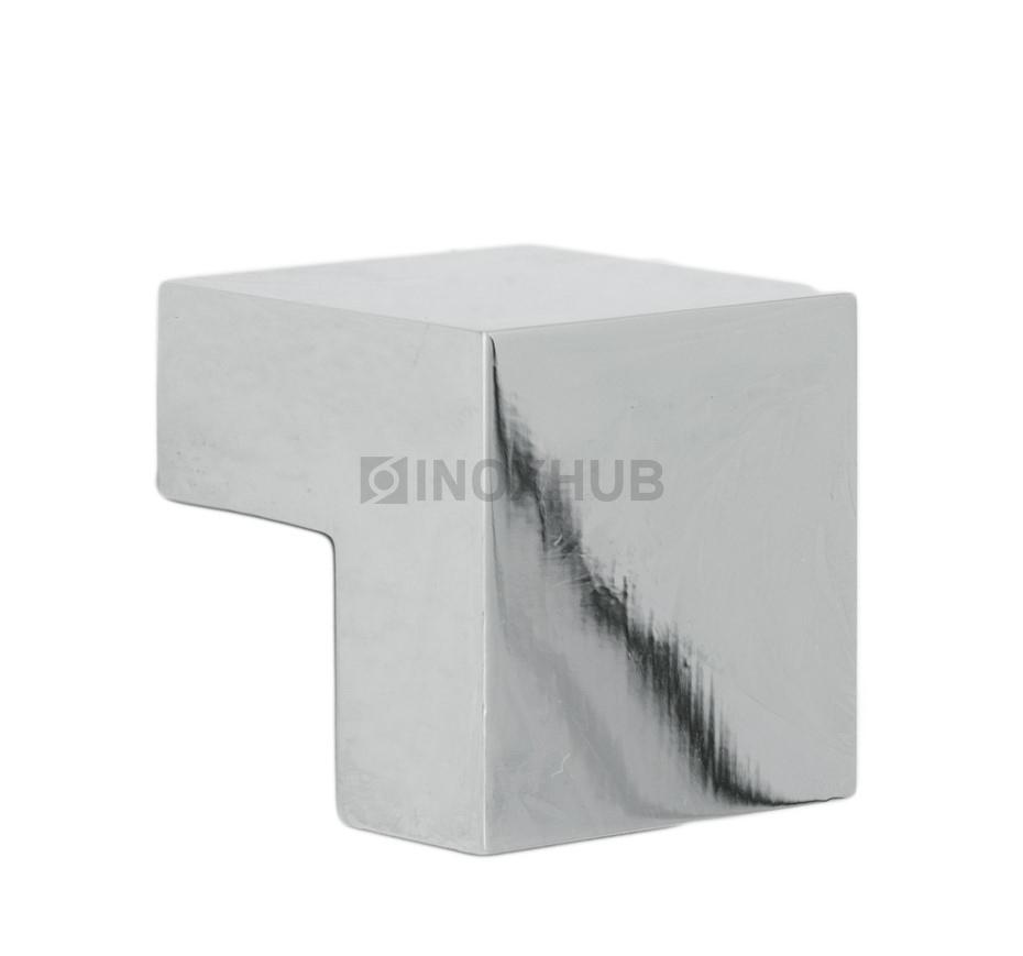 Соединитель штанги 90° (340 PSS)  штанга 30х10 мм нерж. сталь полированная