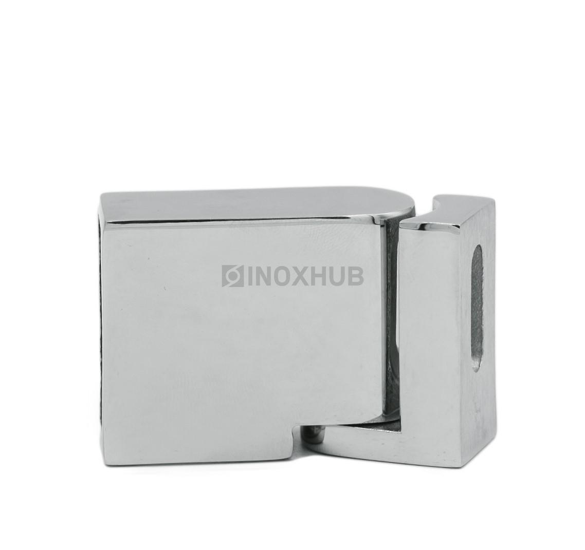 Держатель штанги (341 PSS) к стене поворотный штанга 30х10 мм нерж. сталь полированная