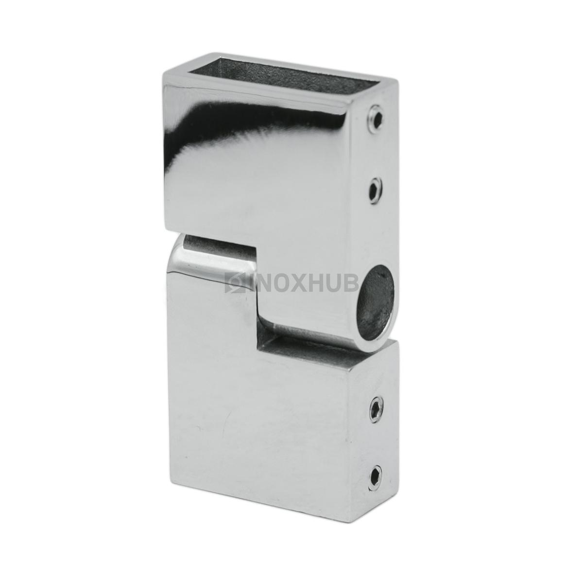 Соединитель штанги (344 PSS) поворотный  штанга 30х10 мм нерж. сталь полированная