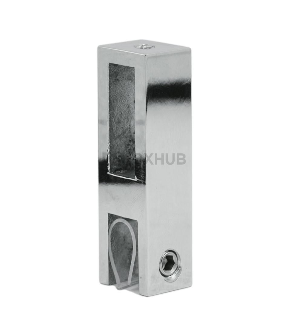 Держатель стекла (345 PSS ) вертикальный  штанга 30х10 мм нерж. сталь полированная
