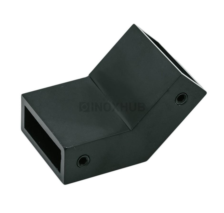 Соединитель штанги 135* (349 BLC)  штанга 30х10 мм нерж. сталь Черный мат