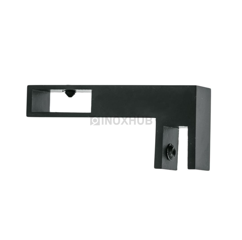 Держатель стекла (346 BLC) горизонтальный штанга 30х10 мм Черный мат.