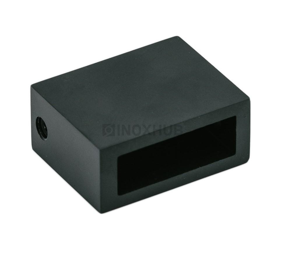 Держатель штанги (343 BLC) к стене штанга 30х10 мм Черный мат