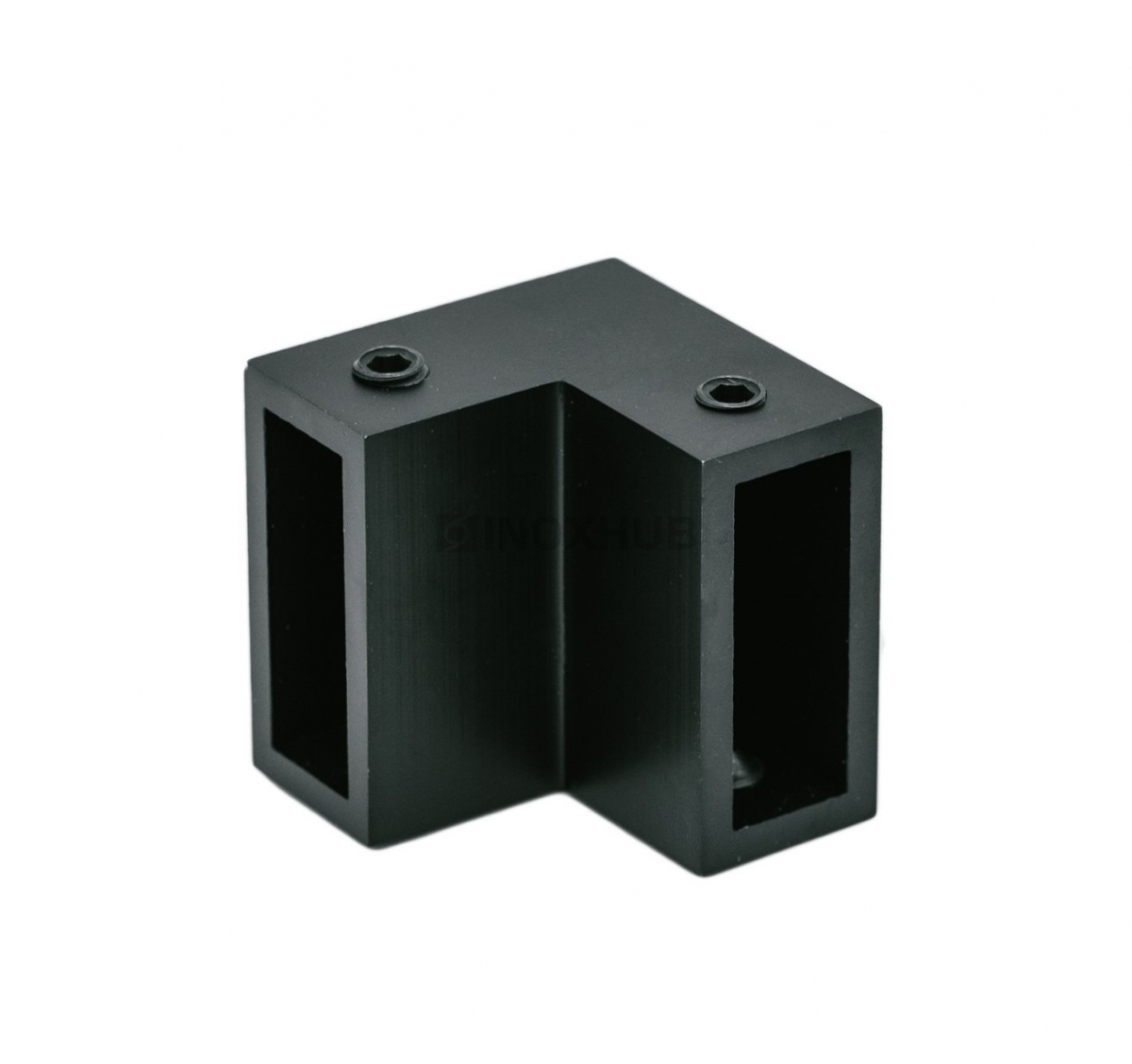 Соединитель штанги 90° (340 BLC)  штанга 30х10 мм Черный мат