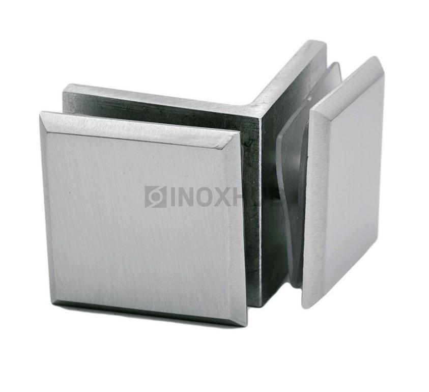Коннектор (725 SC) стекло-стекло 90°  хром матовый