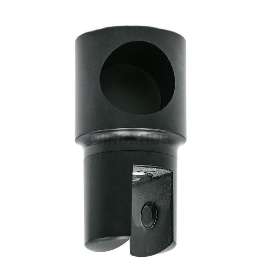 Держатель стекла (914А BLC) торцевой  штанга Ø19 мм Черный мат