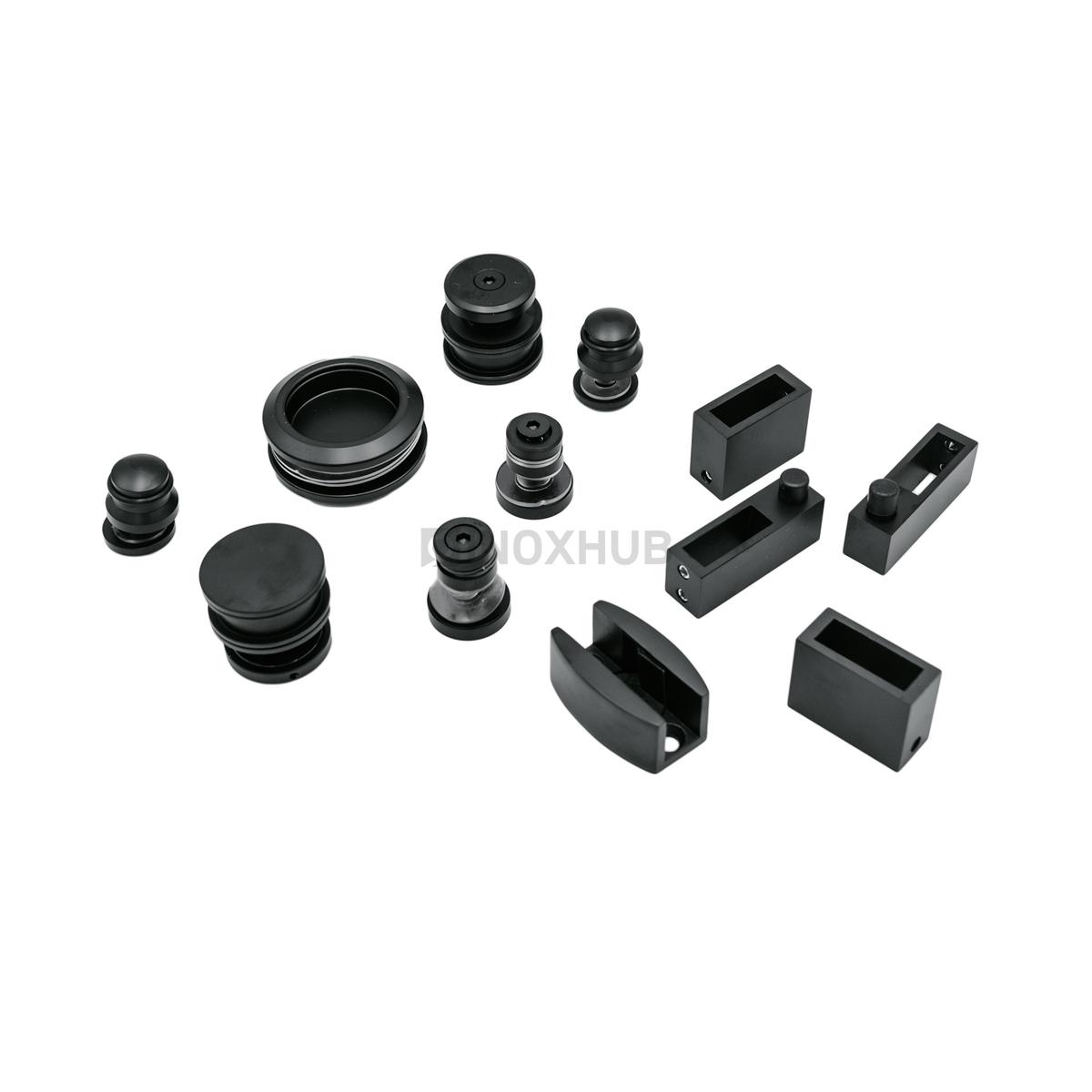 Комплект душевой (400 BLC ) раздвижной системы  Черный мат