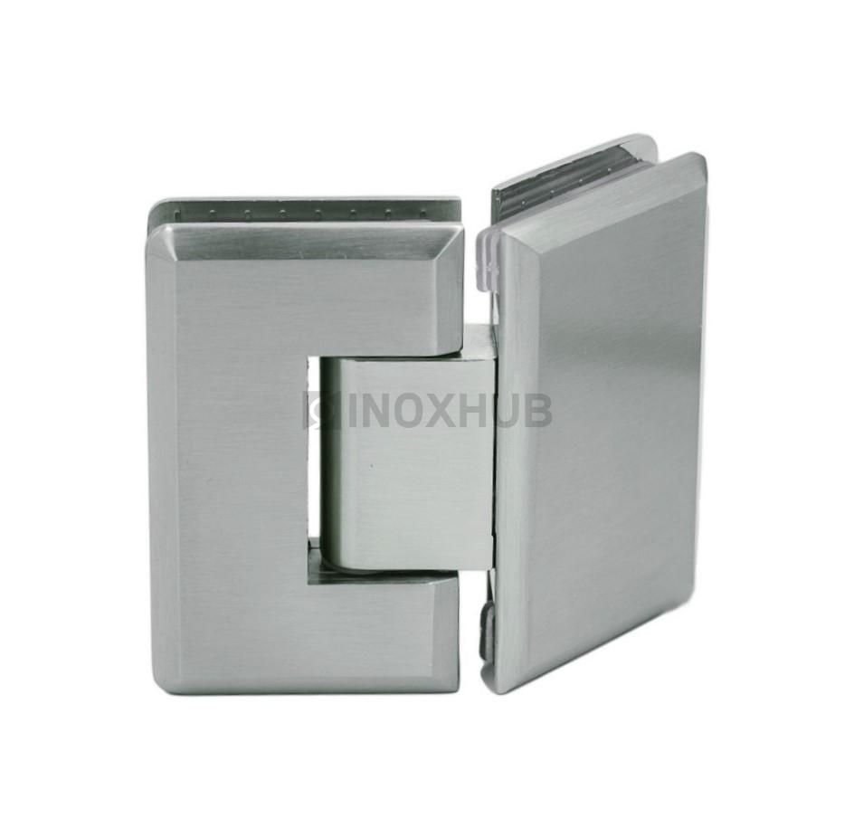 Петля (302 SC) стекло-стекло 135° хром матовый