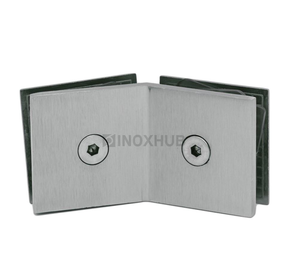 Коннектор (726 SC) стекло-стекло 135°  хром матовый