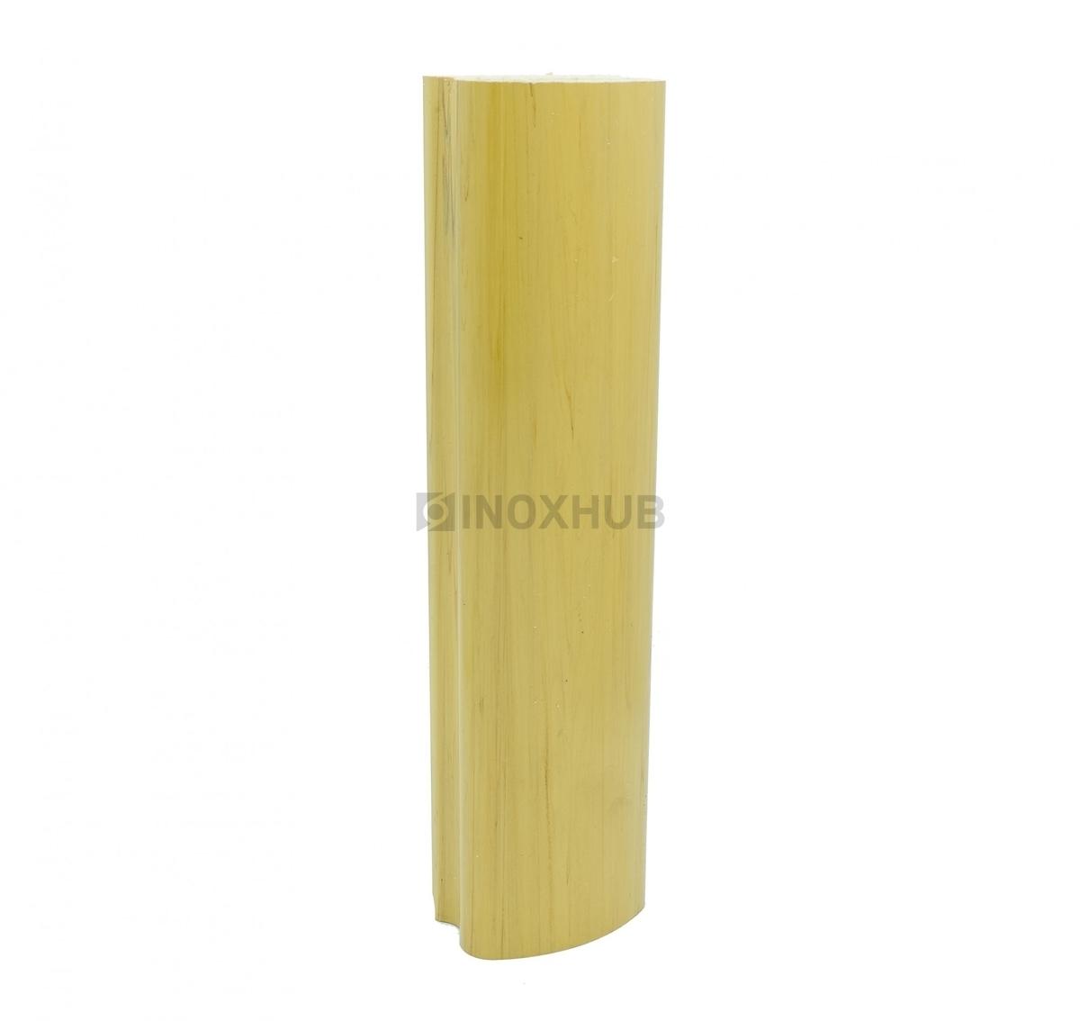 Пластиковый поручень фигурный цвет светлый Бук 40.0x60.0x4000мм