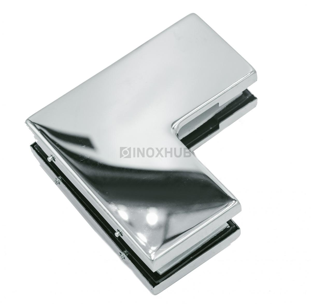 Фитинг угловой (160 PSS) большой, стекло 10-12 мм, нерж. сталь полированная