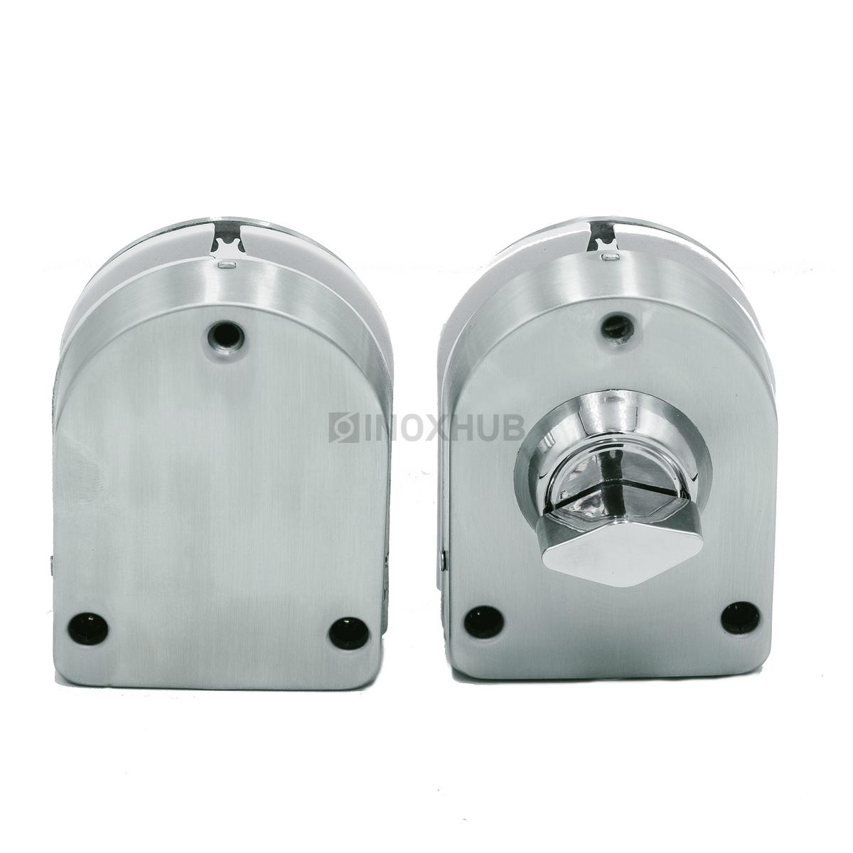 Защелка (017-2 SSS) без сверления с ответной частью на стекло нерж. сталь матовая