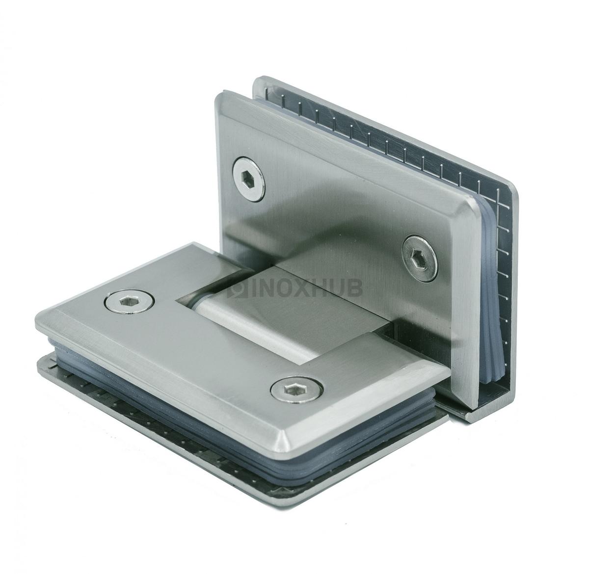 Петля (304 SC) стекло-стекло 90°, хром матовый