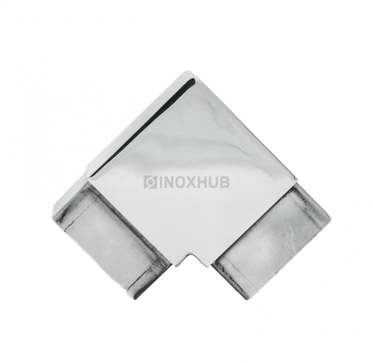 Отвод для поручня с пазом 60х40 мм AISI 304 Grit 600