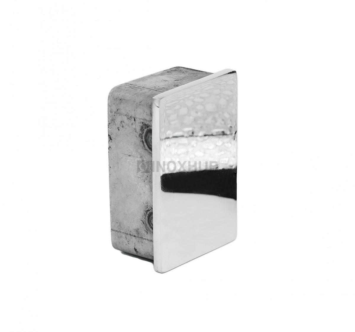 Заглушка для поручня с пазом  60х40 мм AISI 304 Grit 600