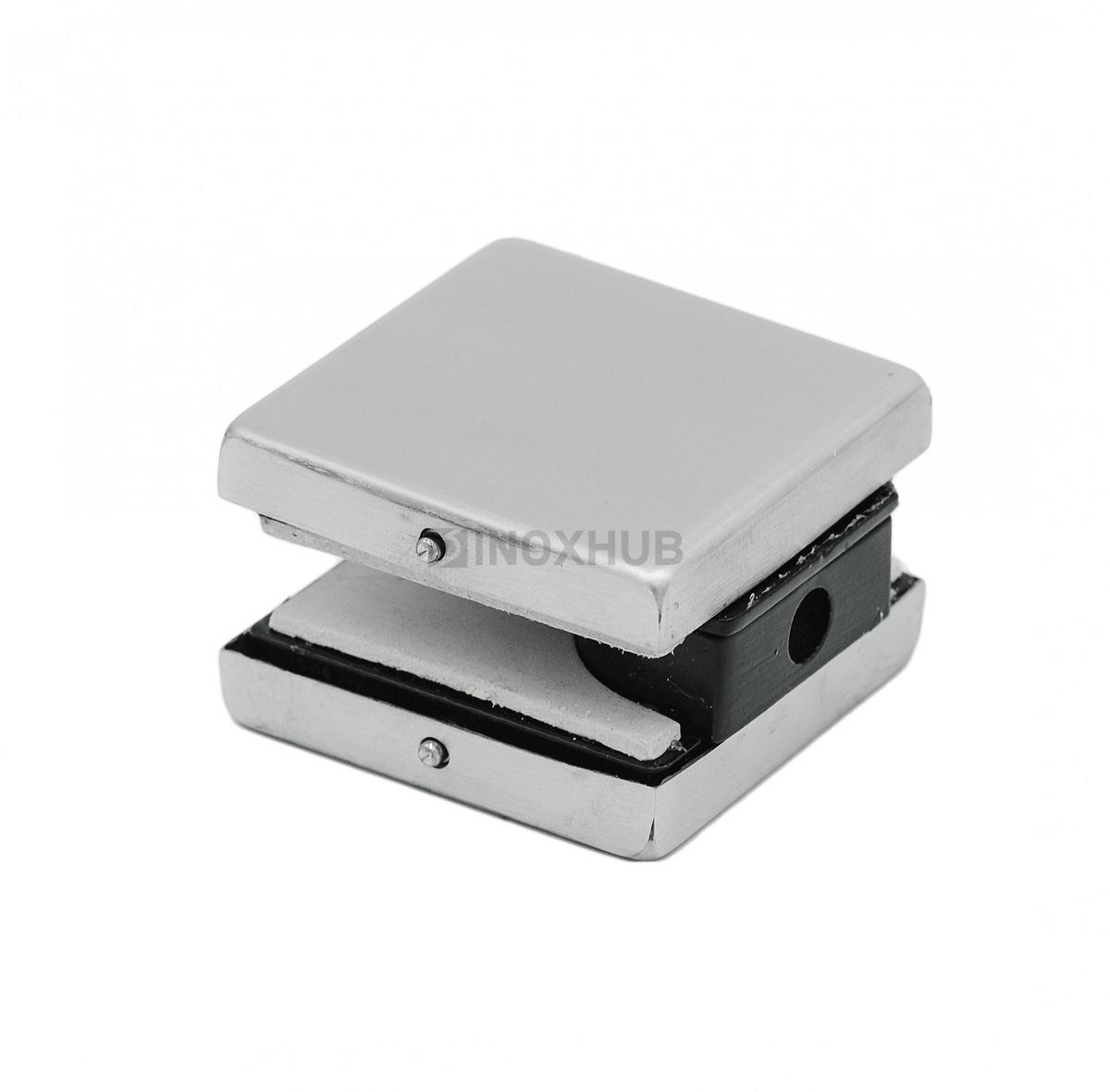 Коннектор (123 SSS) стена-стекло малый стекло 10-12 мм нерж. сталь матовая