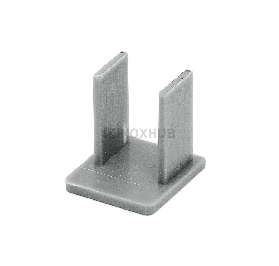Заглушка профиль 22 (t-22AL) пластик серый