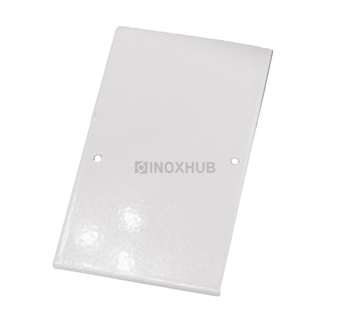 Торцевая заглушка на профиль 102  RAL9006. металлик глянец